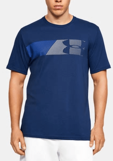 Under Armour Blue Left Chest Logo T-Shirt - 1329584 - 449