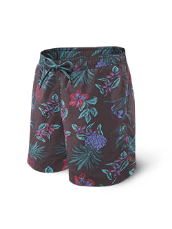 SAXX Cannonball Swim Short 2N1 Red Pineapple Party