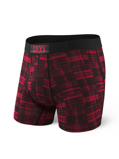 Saxx Vibe Boxer Brief- Red Patched Plaid SXBM35-RPP