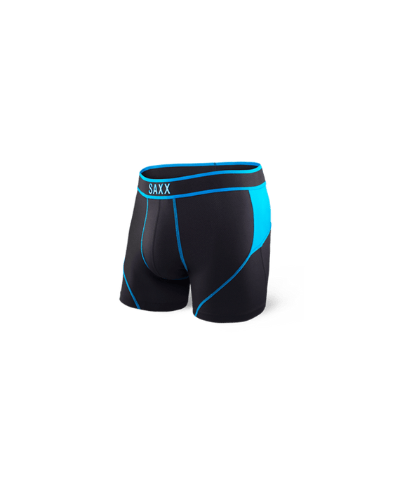 Saxx Kinetic Boxer Brief Black Electric Blue SXBB27-BEL
