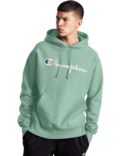 Champion Reverse Weave 3D Stitch Hoodie - Thermal Green - 8QZ 586047