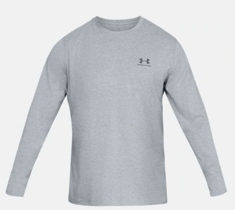 Under Armour Logo Long Sleeve Shirt Grey  - 1289909