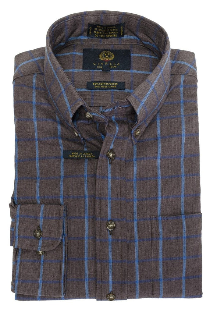Viyella Sport Shirt - Melange Brown