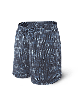 SAXX Cannonball Swim Short 2N1 Blue Waterfall SXSS30 WAT