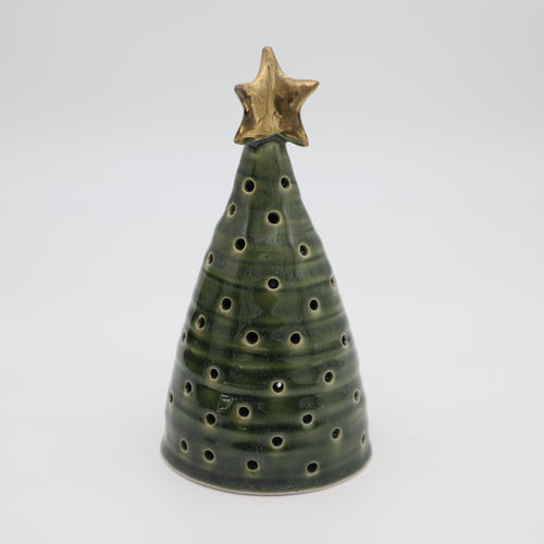 Christmas tree with a golden star, 1