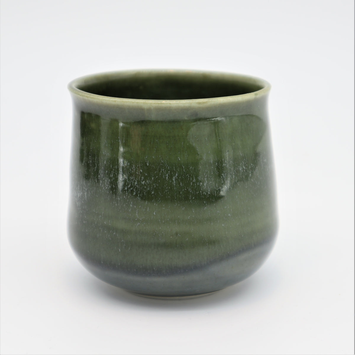 Cup, small green, outward lip