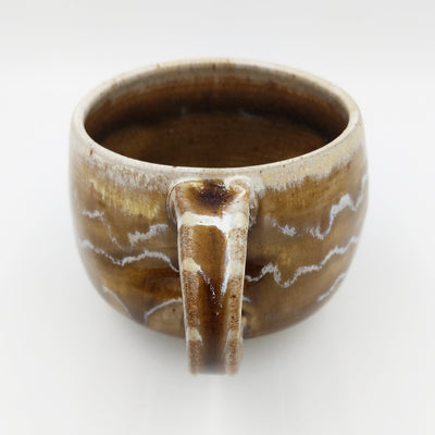 One of a kind, 16 oz Amber and Silt mug