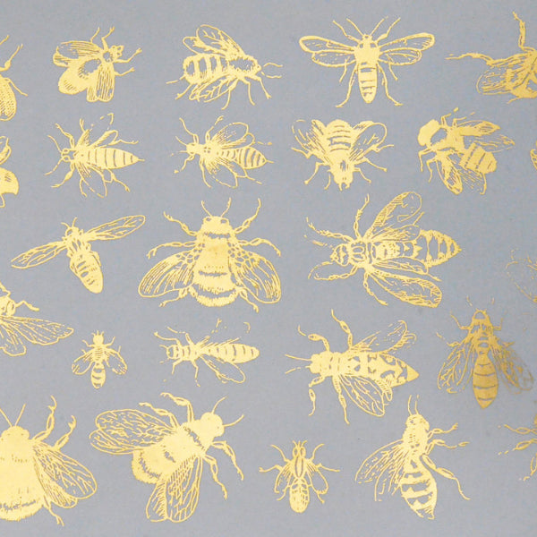 Vintage Bees Gold Lustre (Decal-046)