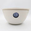 White Berry Bowl with Window square & dot blue transfer