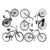 Large Bike Black (Decal-013)