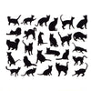 Cat Silhouettes Black (Decal-054)