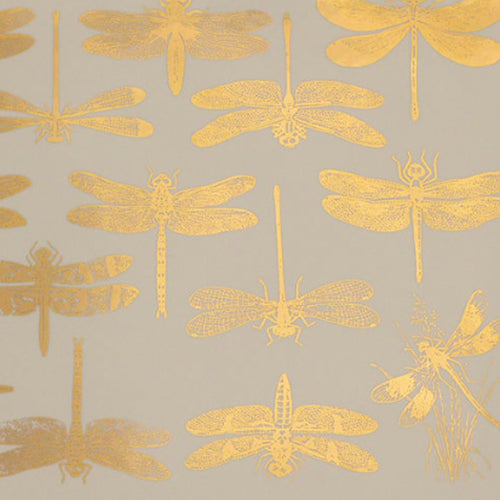 Dragonflies Gold Lustre (Decal-008)