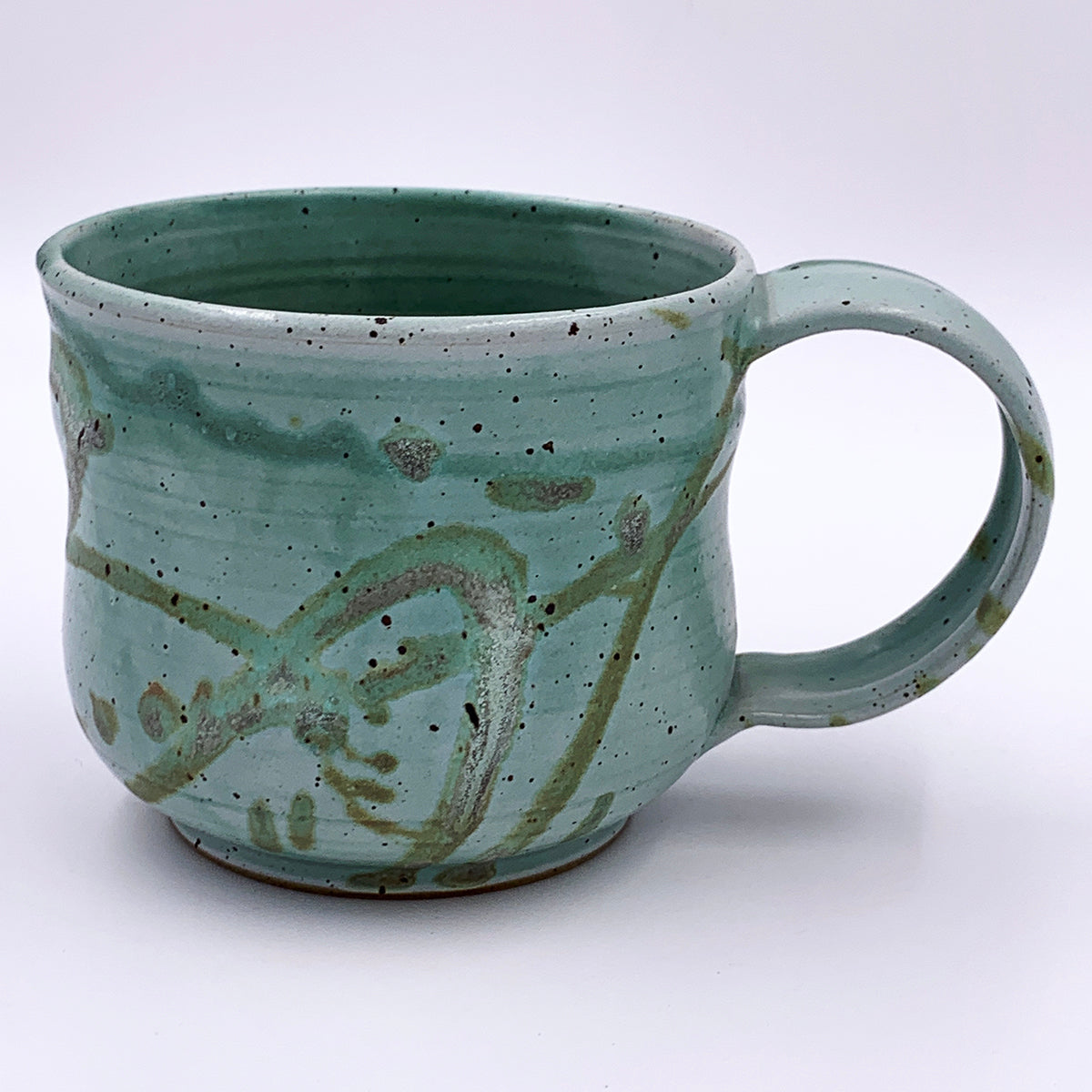 One of a kind, 18 oz Mug, Emerald Silt Splatter