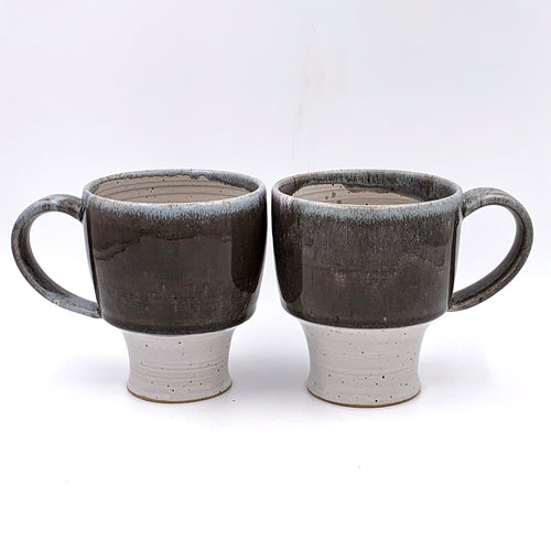 14 oz Grey & White Mug
