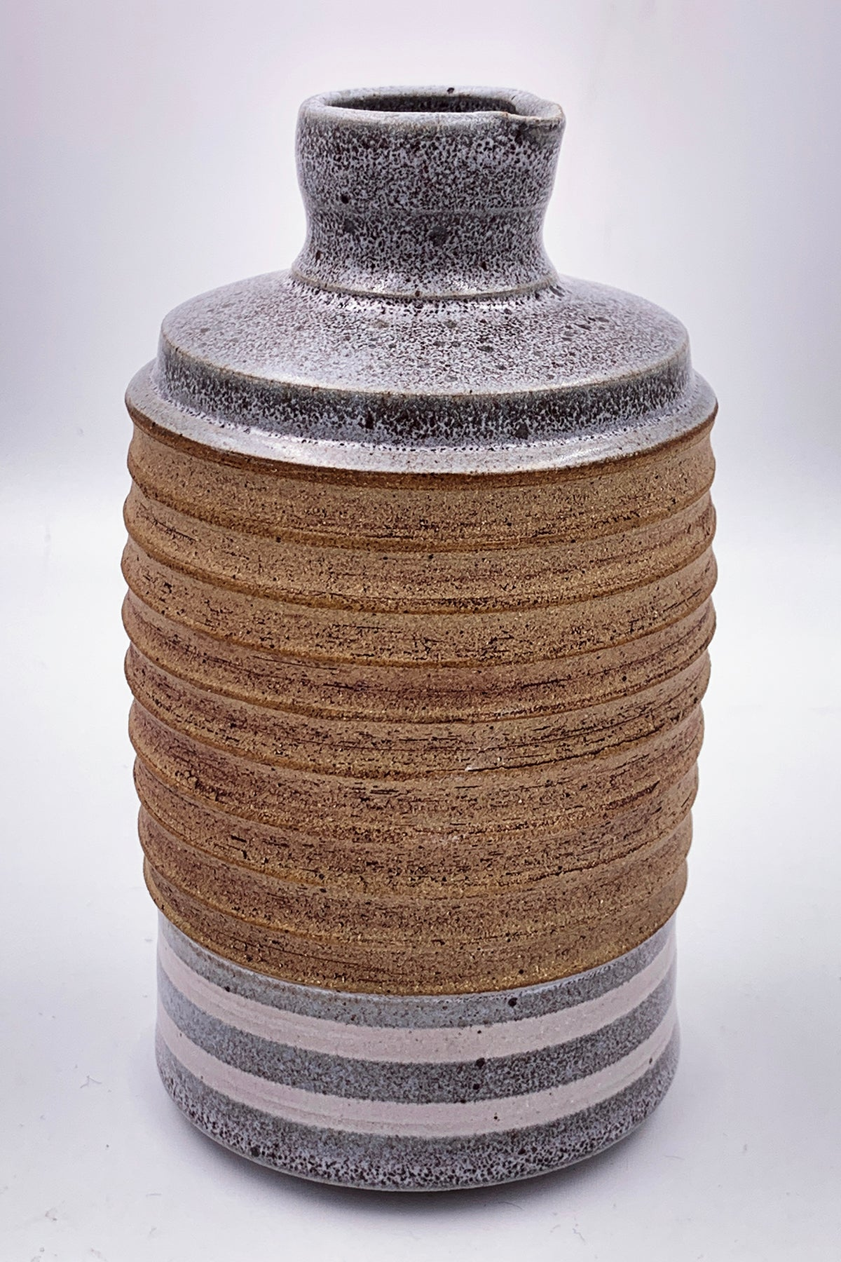 One of a kind, Bottle/Vase Grey & Raw