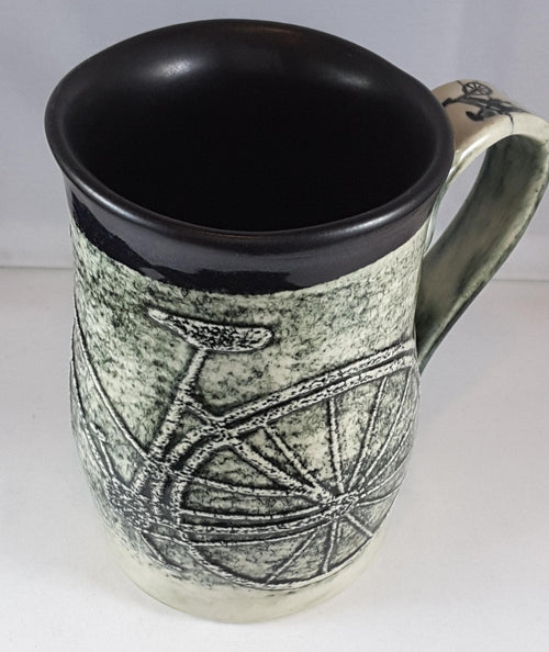 B&W Mug with Bicycle