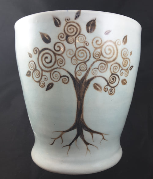 Planter with Tree of Life