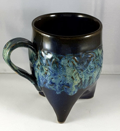 Tripod mug with Blue and Black