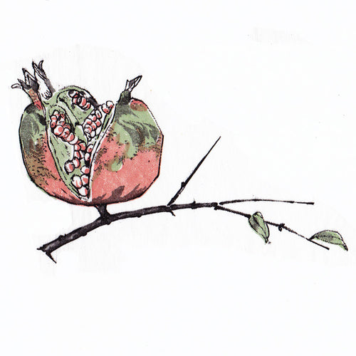 Pomegranate on a Branch - 3 Colours (JPT-010)