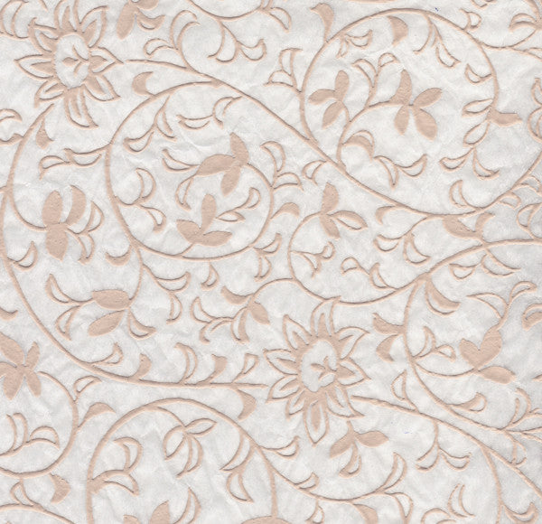 Flowers Pattern- White Relief (JPT-019)