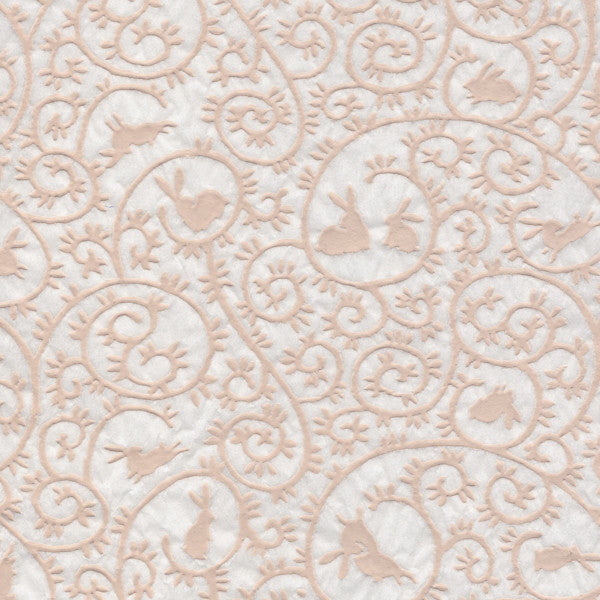 Rabbits  Pattern- White Relief (JPT-020)