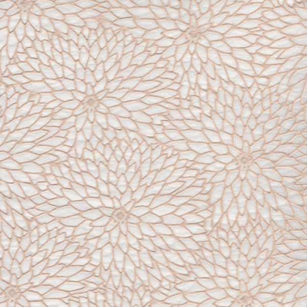 Chrysantemum  Pattern- White Relief (JPT-043)