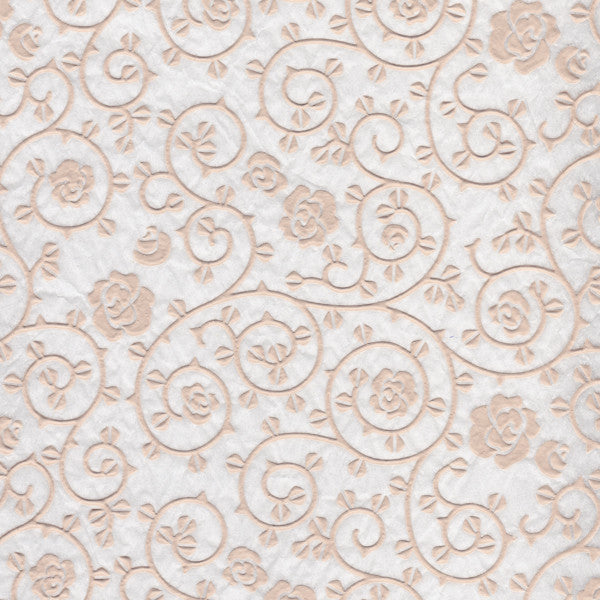 Roses Pattern - White Relief (JPT-068)