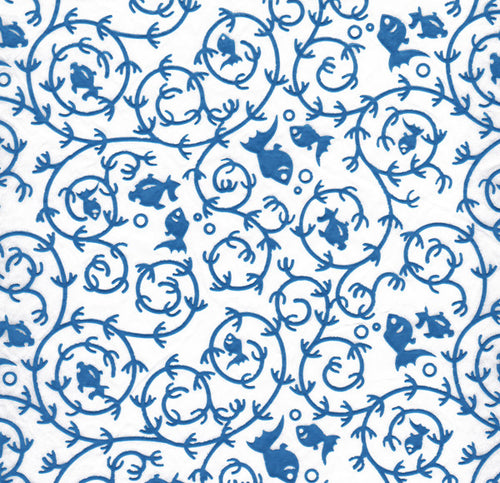 Blue Goldfish Pattern - Coloured Relief (JPT-071)