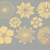 Large Flowers Gold Lustre (Decal-062)