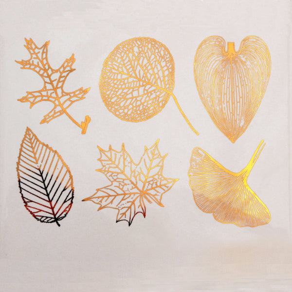 Large Leaves Gold Lustre (Decal-051)