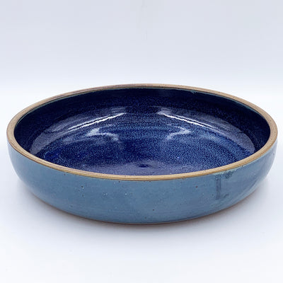 Large Slate over Violet with Raw Rim Bowl