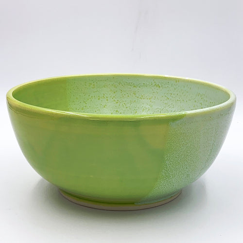 Medium Half Frosty Sprout Green Bowl