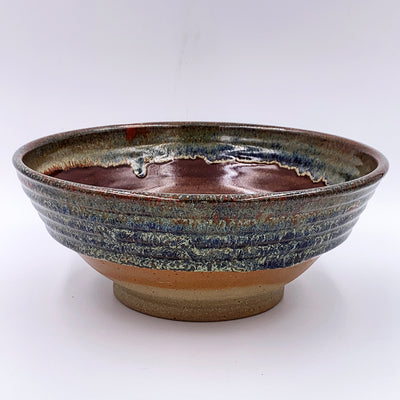 Medium Rusty Ribbed Bowl
