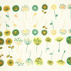 Modern Flowers Emerald and Gold (Decal-022)