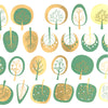 Modern Trees Emerald and Gold (Decal-024)