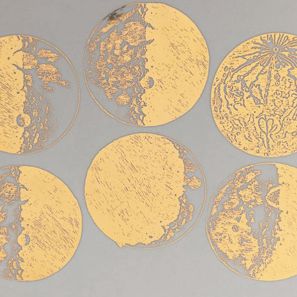 Moons Gold Lustre  Medium (Decal-061)