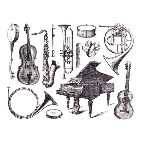 Musical Instruments Black (Decal-025)