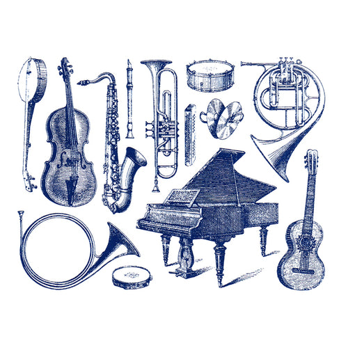 Musical Instruments Blue (Decal-026)