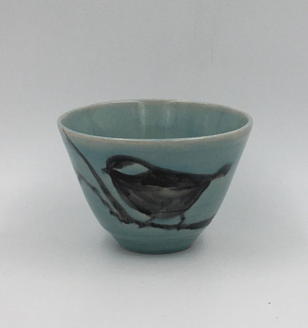 Small Bowl - Underglaze - Painted Bird; Iceberg