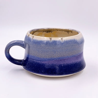 One of a kind, 20 oz Mug. Low Quartz over Violet