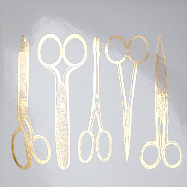 Vintage Scissors Gold Lustre (Decal-003)