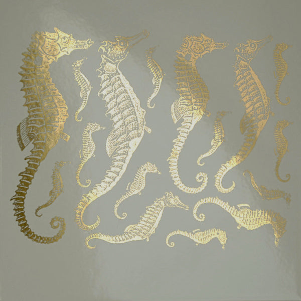 Seahorses Gold Lustre (Decal-031)