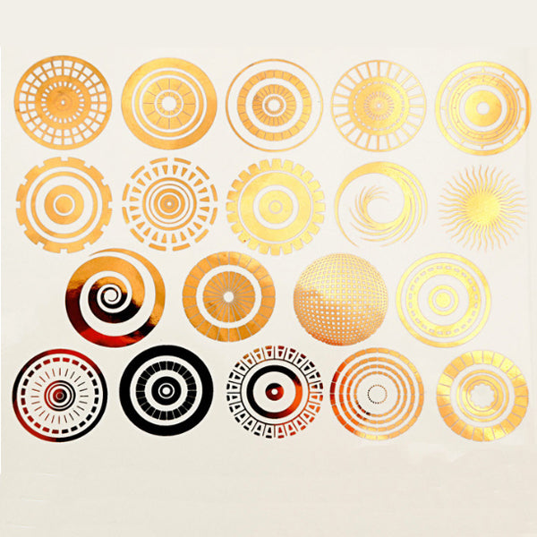 Small Circles Gold Lustre (Decal-035)