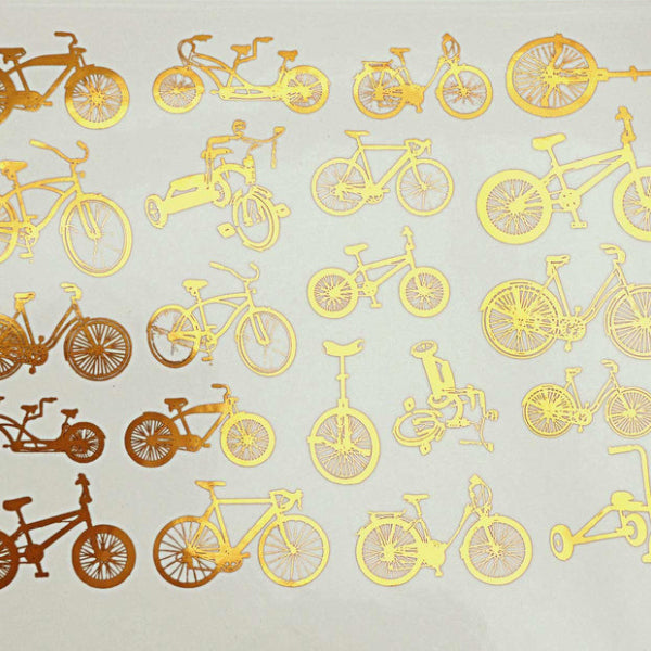 Small Bike Gold Lustre (Decal-059)