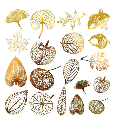 Small Leaves Gold Lustre (Decal-049)