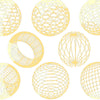 Geometric Sphere Gold Lustre(Decal-012)