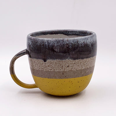 One of a kind, 16 oz Pollen, Stone & White Glass