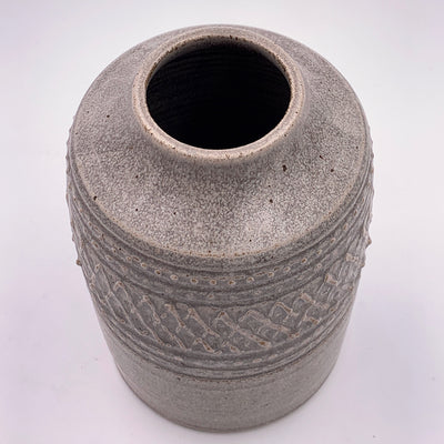 One of a kind, Vase Stone with Slip Trailing