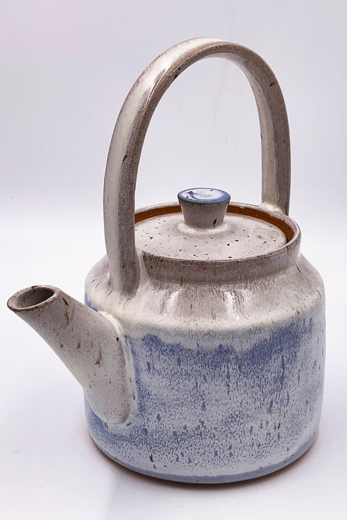 Made to Order, Cylindrical Frosty Teapots with Top Handle