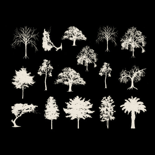 Trees White Mica(Decal-043)